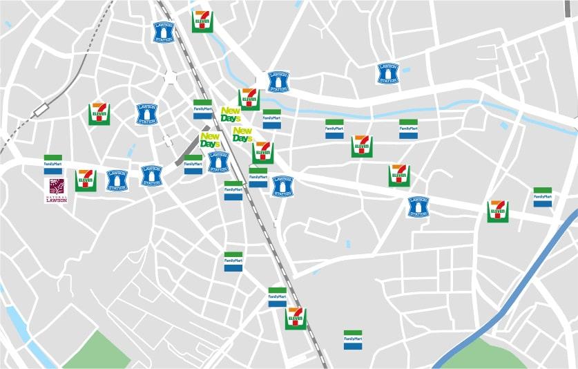 コンビニ地図