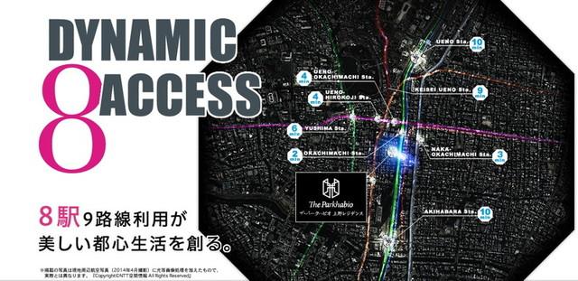 ザ・パークハビオ上野レジデンスの公式サイトのキャプチャ画像